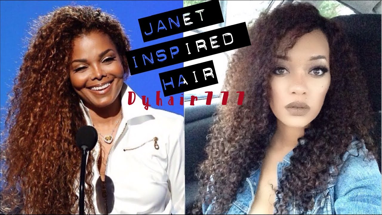 Janet Jackson Inspired Hair Tutorial | Dyhair777 Cambodian ...