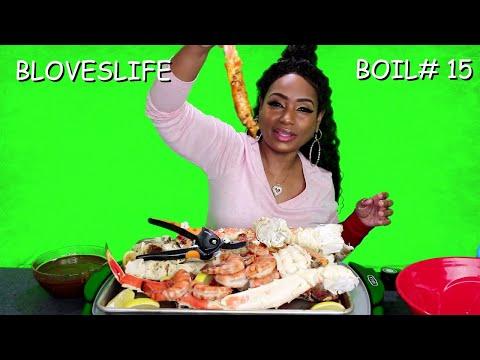 Smackalicious Seafood Boil 15 Huge King Crab Legs, Lobster Tails and Tiger Shrimp