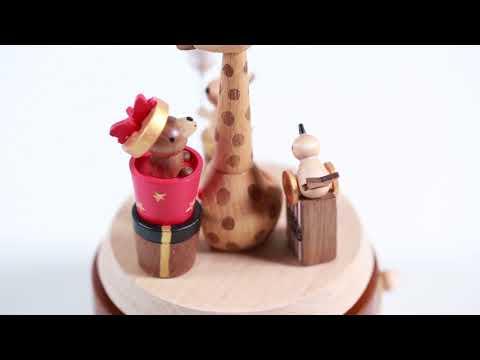 Giraffe & Gifts Wooden Music Box