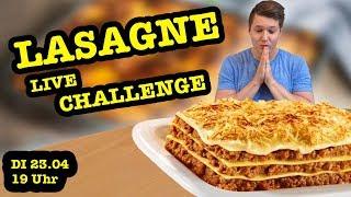 Live Food Challenge | Wie viel Lasagne kann ich essen? | Lasagne Challenge