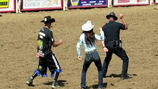 Clovis Police Dance at Clovis Rodeo