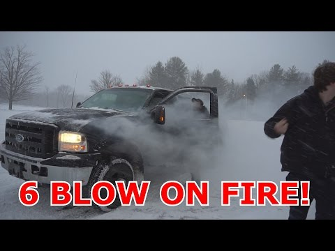 6.0 CATCHES ON FIRE DRIFTING!