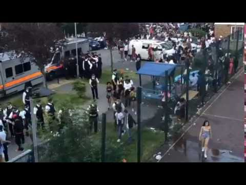 Violent Clashes Between Police and Partygoers at Stamford Hill Rave