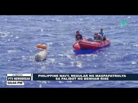 NEWS BREAK: PHL Navy, regular nang magpapatrolya sa palibot ng Benham Rise