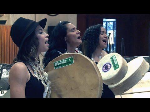 """""""Ulali Singing Idle No More"""" at the UN Chapel September 22, 2014"""