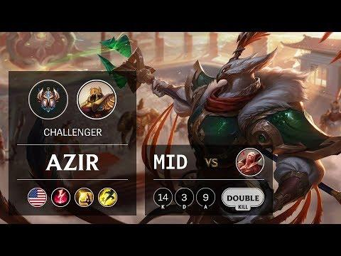 Azir Mid vs Vladimir - NA Challenger Patch 9.22