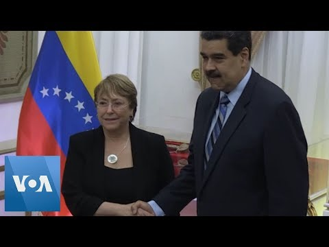 UN Rights Chief Bachelet Meets Venezuela's Maduro