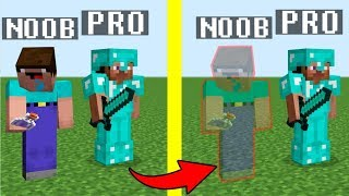 Noob vs Pro : BECAME INVISIBLE challenge in Minecraft Battle