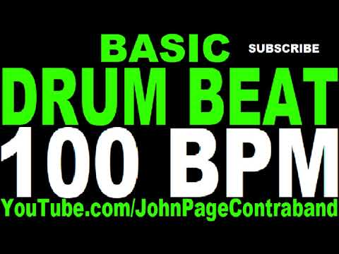 Basic Straight Drum Beat Loop 100 bpm HALF HOUR LONG 4/4 Metronome
