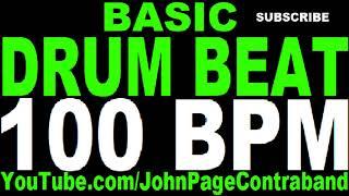 Basic Straight Drum Beat Loop 100 bpm HALF HOUR LONG 4/4 Metronome