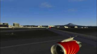 air india-airbus a319 landing in Seattle-USA-FS2004-great landing