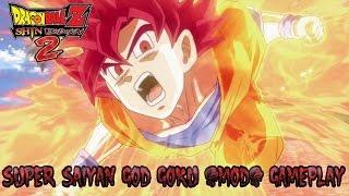 Dragon Ball Z Shin Budokai 2 | Super Saiyan God Goku (MOD) Gameplay