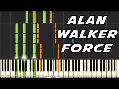 Alan Walker - Force Piano Cover + Tutorial + Midi file free download