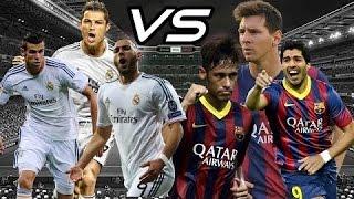 Messi neymar suarez v.s ronaldo bale benzema (msn vs bbc)