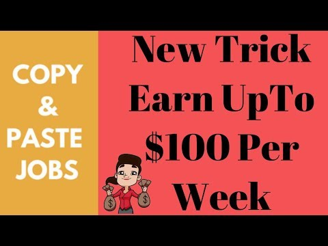 Copy & Paste Jobs Best Online Jobs without Investment Earn UpTo $100 Per Weeke