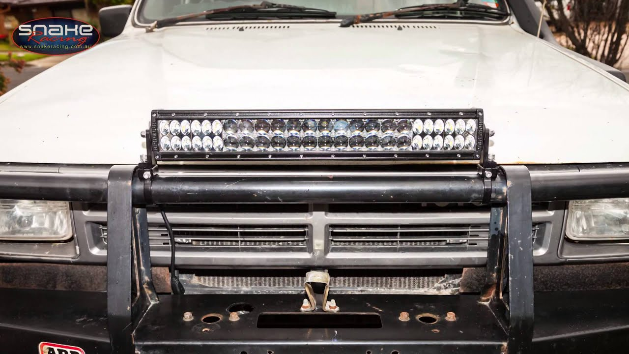 20 led light bar bull bar mounting options snake racing youtube aloadofball