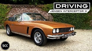 JENSEN INTERCEPTOR III Convertible 1975 - Full test drive in top gear - Engine sound | SCC TV