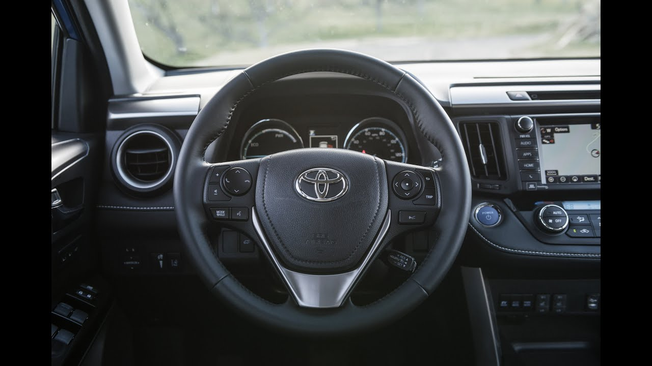 2016 toyota rav4 hybrid interior youtube. Black Bedroom Furniture Sets. Home Design Ideas