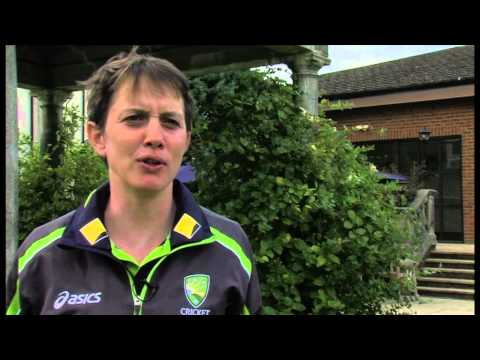 Sarah Elliott speaks after Day 1 of the Women's Ashes