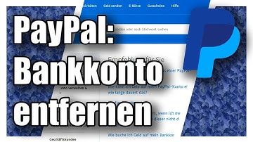 PayPal Bankkonto entfernen | Tutorial-Hilfe