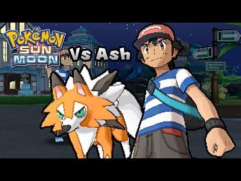 Pokemon Ultra Sun & Ultra Moon - Vs Ash Ketchum [Fake] (Alola team)