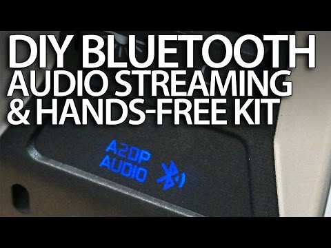 DIY bluetooth handsfree kit & A2DP music streaming in your car wireless aux