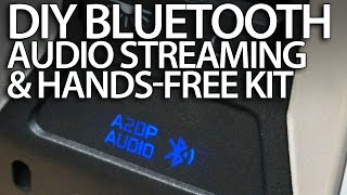 diy bluetooth handsfree kit a2dp music streaming in your car wireless aux