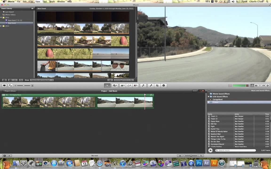 how to get music on imovie