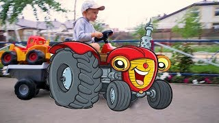Играем с большим трактором все серии подряд