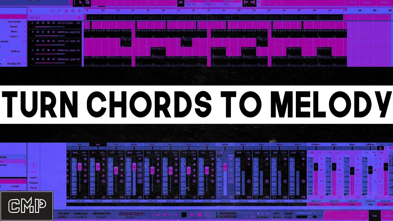 How To Make A Melody From Chords In Studio One or Any DAW