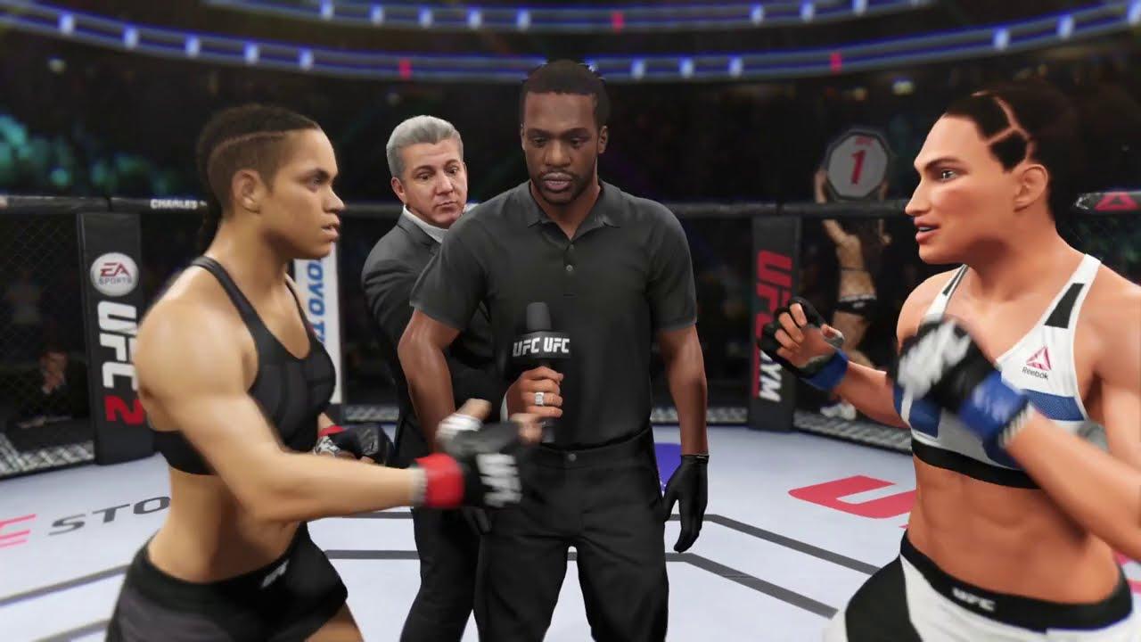 Amanda Nunes vs. Lisa Ann - EA Sports UFC 2 - Epic Girl Fights 💛