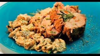 Запечённая свинина с грибным соусом | Дежурный по кухне