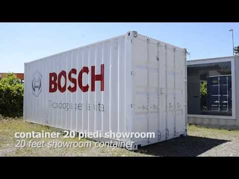 Container 20 piedi showroom Bosch