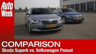 Skoda Superb [B8] vs Volkswagen Passat [B8] - English subtitled