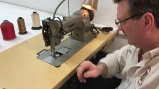Juki LU 563 Instructional video