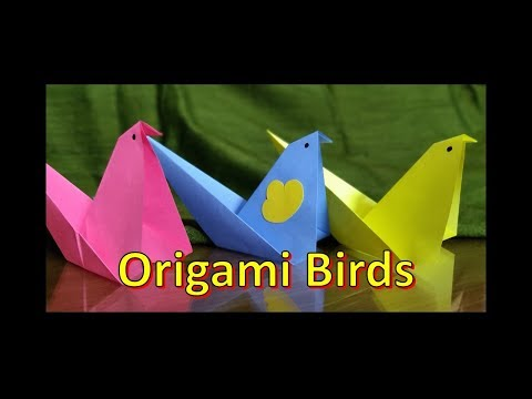 DIY: How to make a Paper Bird? Easy Origami | Paper Craft #paperfolding #kidscraft