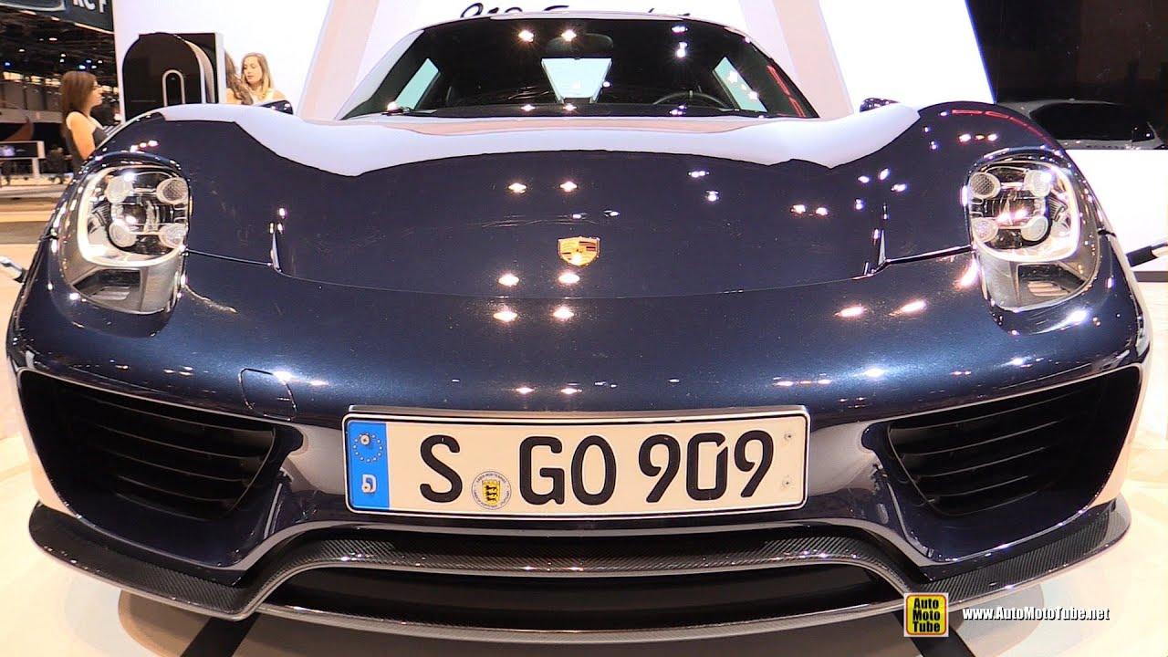 2014 porsche 918 spyder exterior and interior walkaround 2015 chicago auto show