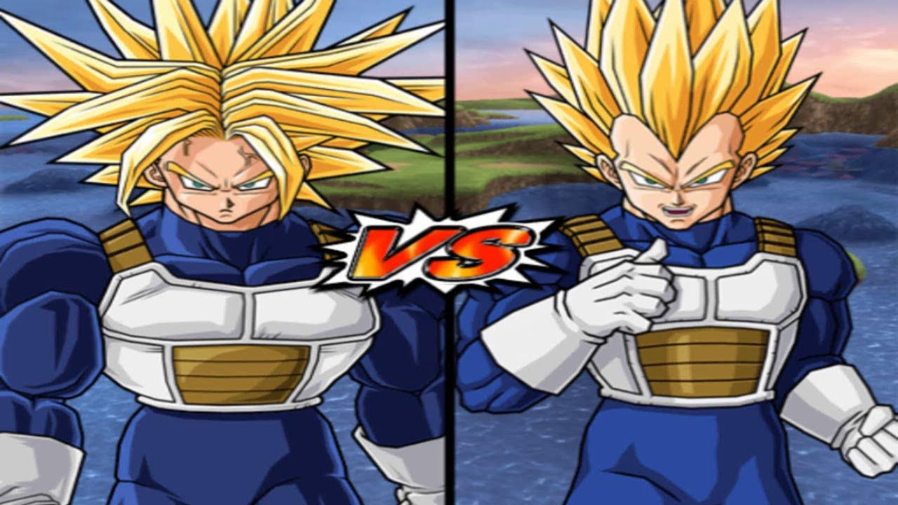 Dragon ball z budokai tenkaichi 3 trunks ultra super saiyan vs super vegeta youtube - Vegeta super sayen ...