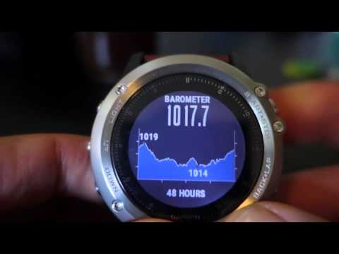 Garmin Fenix3 Storm Alert - Weather - Barometer