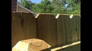 Building a 40' Privacy Fence using Dog-Eared Pine Pickets