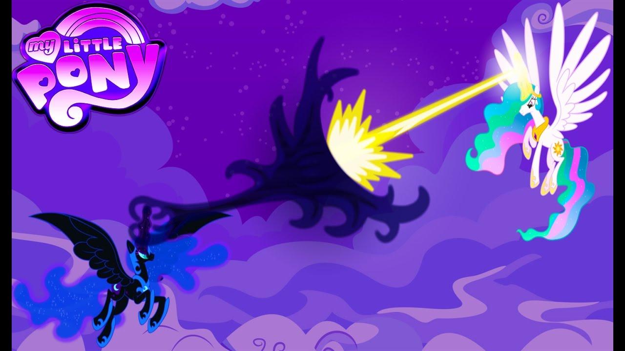 My Little Pony Transform Princess Celestia Vs Princess Luna Battle