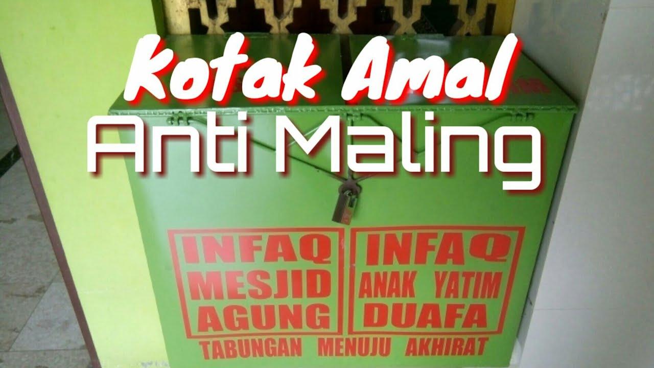 Contoh Kotak Amal Anti Maling - YouTube