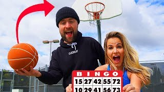 TRICK SHOT BINGO pt 2  (vs MY EX and Josh Horton) *Loser gets pie to the face*