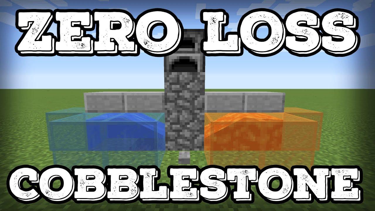 Minecraft Tutorial - Zero Loss Cobblestone Generator(Minecraft 24.247+)