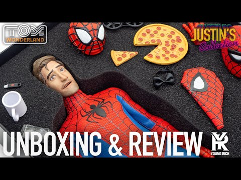 Spider-Man Peter B Parker 1/6 Scale Figure Into the Spider-Verse Young Rich Toys Unboxing & Review