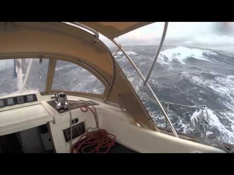 Oyster 53 Sailing Yacht Big Waves High Winds Strait of Bonifacio