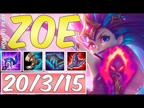 HOW TO PLAY ZOE SEASON 9   Best Build & Runes   Season 9 Zoe Guide   League Of Legends