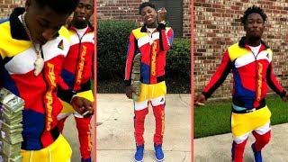 NBA YoungBoy and His Friend Wearing Matching Outfits Shows Off Cash Money YB Never Broke Again FR