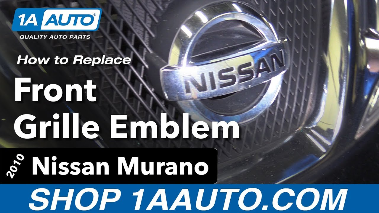 How to Replace Front Emblem 09-14 Nissan Murano