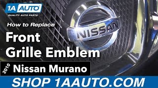 How to Replace Install Front Emblem 10 Nissan Murano